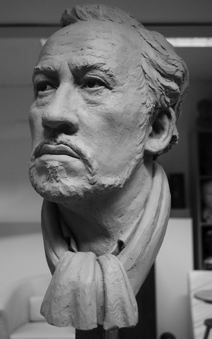 James Alexander Matthews: Simon Callow Portrait Sculpture