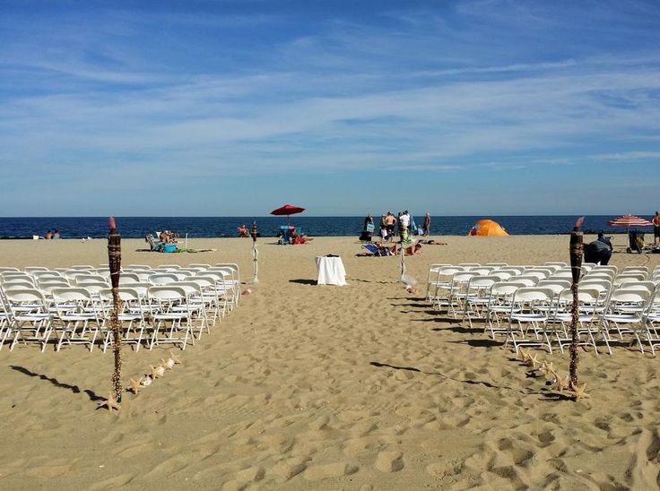 Wedding on the beach in Asbury Park, Mcloons Restaurant by NJ Wedding Officiant Andrea Purtell www.forthisjoyousoccasion.com