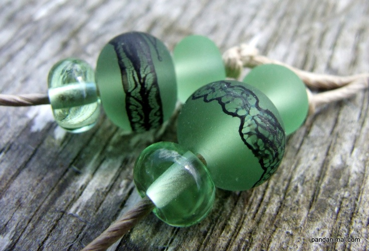 Green Lampwork beads - Malmesbury Lace Spangles - Made to order - SRA - GBUK - FHFteam - CPteam. £7.00, via Etsy.