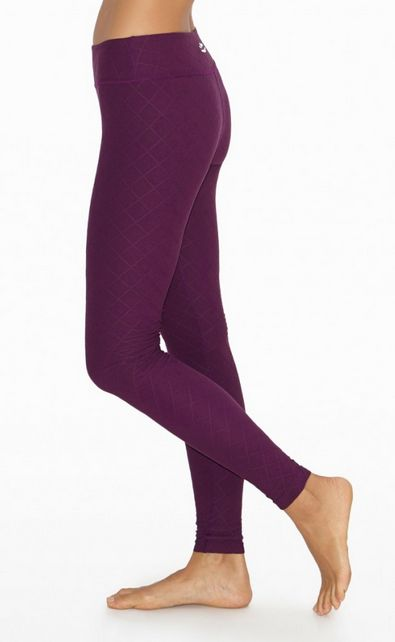 Quilted Essential Long Legging by BEYOND YOGA in Wild Plum ...