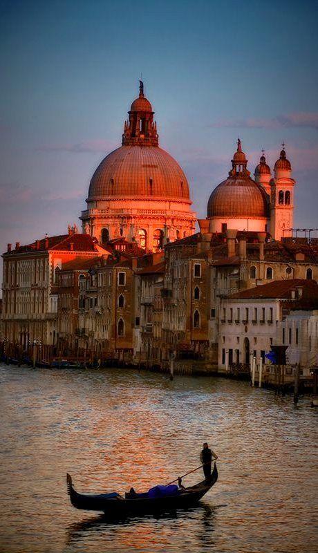 ღღ Grand Canal at sundown, Venice, Italy -- by Andreas Politis on 500px