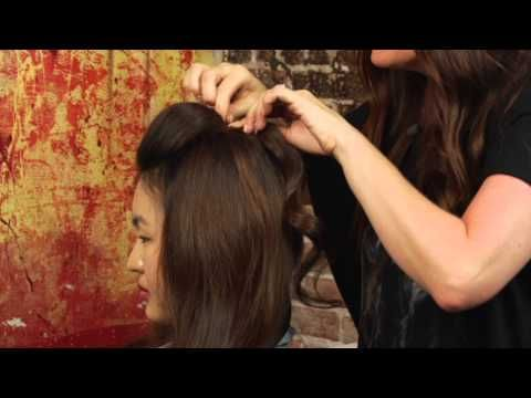 How to Pin Your Bangs Back & Make a Little Poof : Mane Street - YouTube