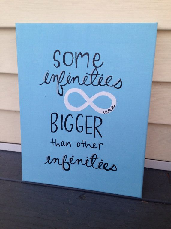 The Fault In Our Stars Quote Canvas on Etsy, $22.00