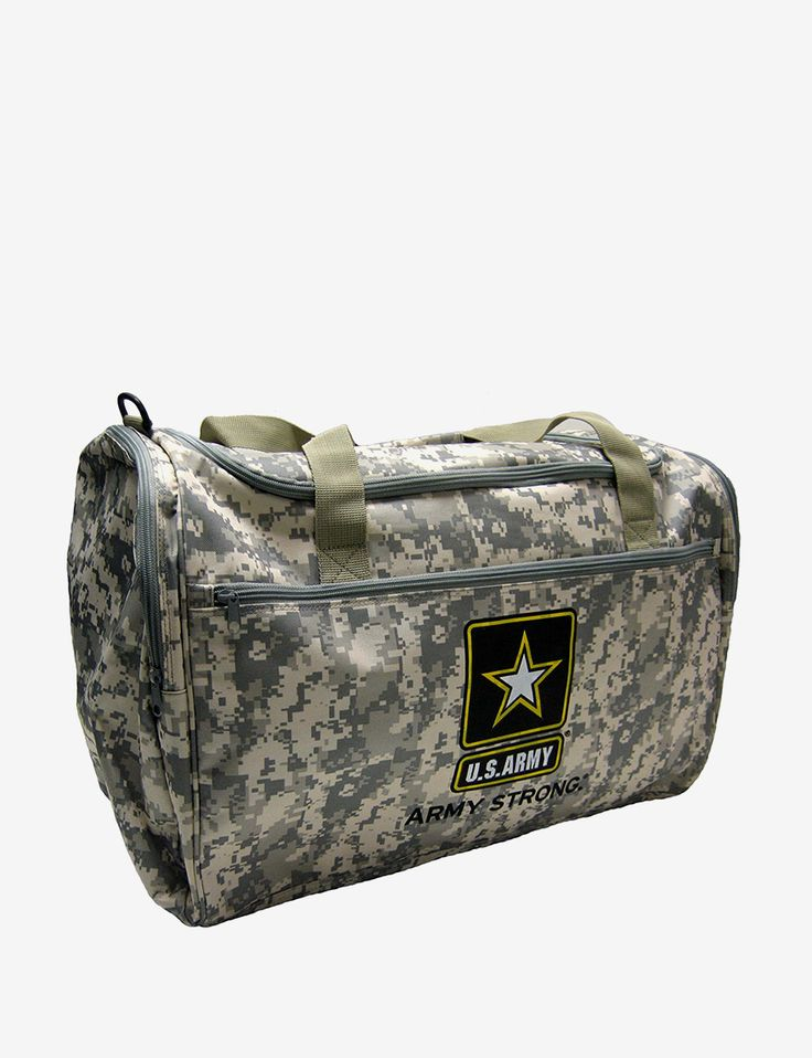 U.S. Army Camo Print Duffel Bag & deals on Carry on Luggage! Official site for Stage, Peebles, Goodys, Palais Royal & Bealls.