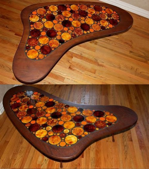 Mid Century Modern Coffee Table Kidney Bean Shaped Atomic: 1000+ Images About Kidney Shape Tables On Pinterest