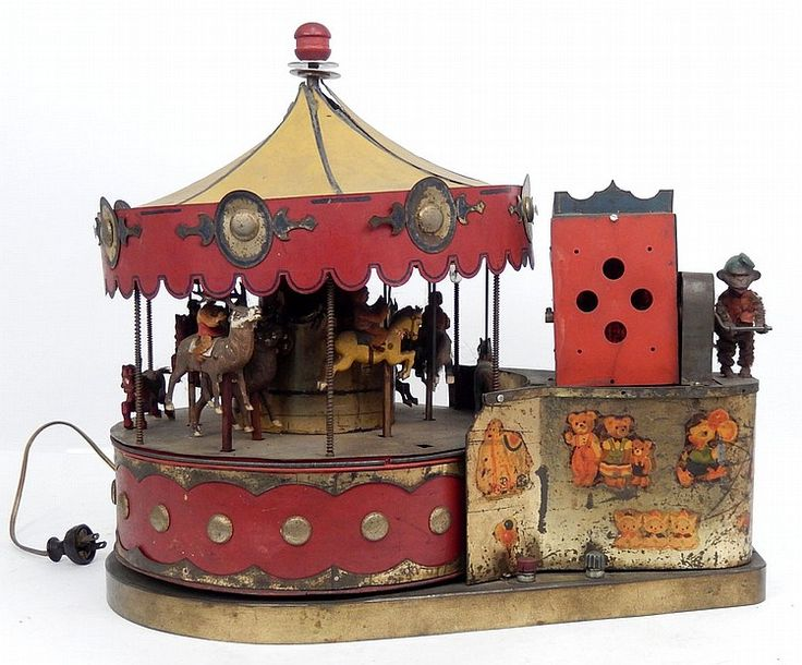 Switch It Up Toys : Electric mechanical toy carousel green switch operates