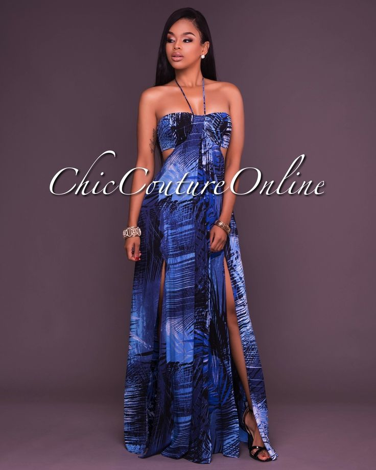 Chic Couture Online - Juana Blue Print Open Back Maxi Dress, $55.00 (http://www.chiccoutureonline.com/juana-blue-print-open-back-maxi-dress/)