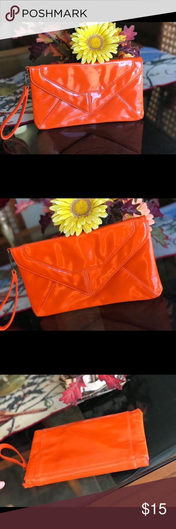 🎉SALE🎉NWT Envelope Clutch Bag Orange envelope Clutch bag -New,never used! Size:10X6 Bags
