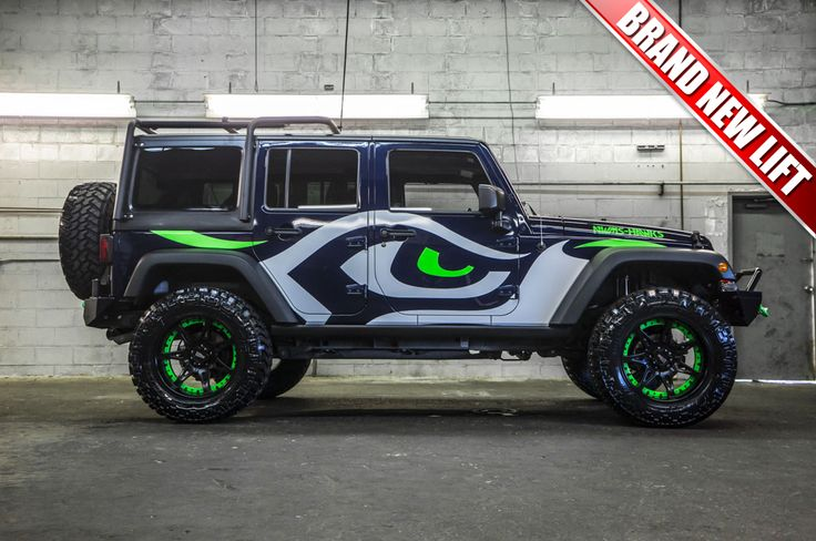 Totally Custom Wrapped and Lifted 2013 Jeep Wrangler Unlimited Sport 4x4 For Sale   Northwest Motorsport
