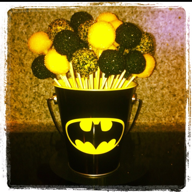 Batman cake pops                                                       …