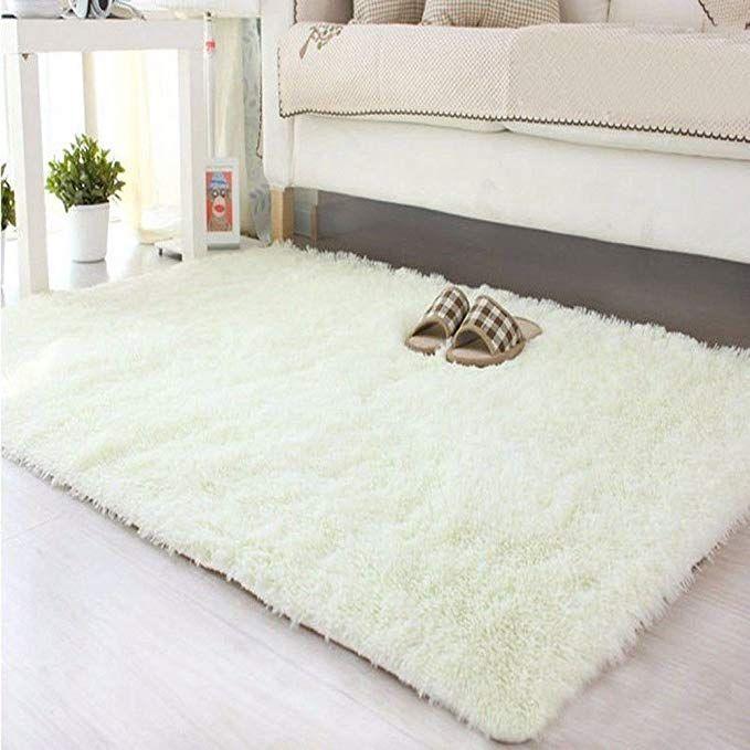 Amazon Com Dodoing Super Soft Modern Shag Area Rugs Living Room Carpet Bedroom Rug For Children Play Solid Area Rug Dining Room Fluffy Rug Living Room Carpet