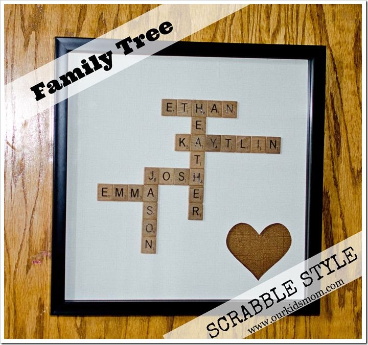 Luckily, our names will intersect. DIY Craft | FamStyleily Tree Scrabble