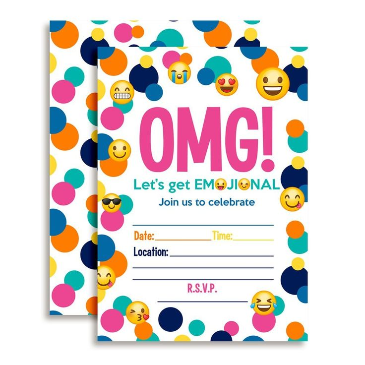 Amazon.com: Emoji Birthday Party Fill In Invitations: Toys