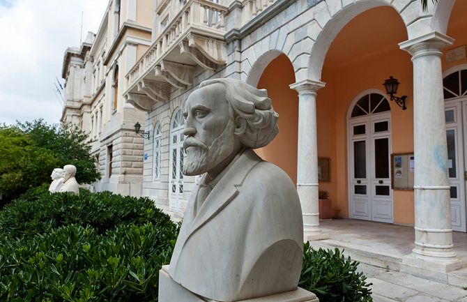 designed by the Italian architect P. Sampo, built in 1863 and located on Miaoulis Square