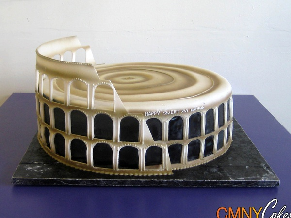 Luxury Cake Design Roma : 17 Best images about Colosseum Cake! on Pinterest Coins ...