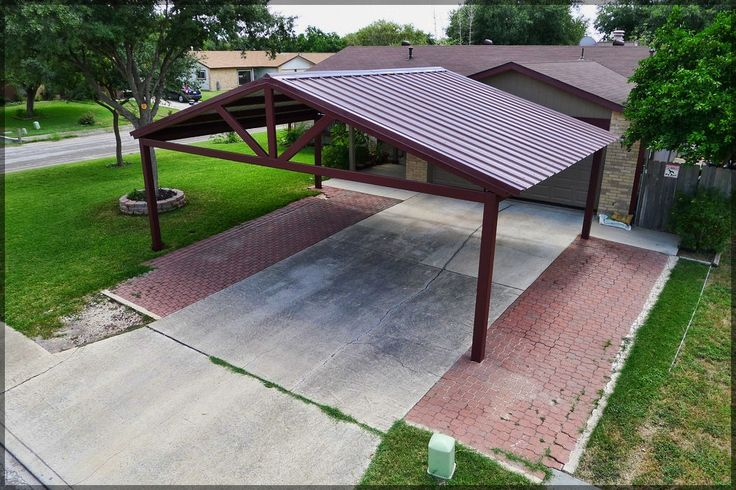 17 best ideas about free standing carport on pinterest for Carport deck