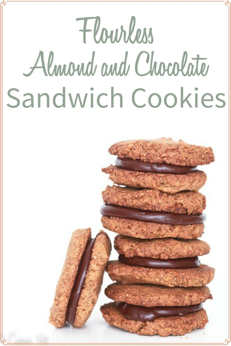 Flourless Almond Butter and Chocolate Sandwich Cookies (Grain-Free)