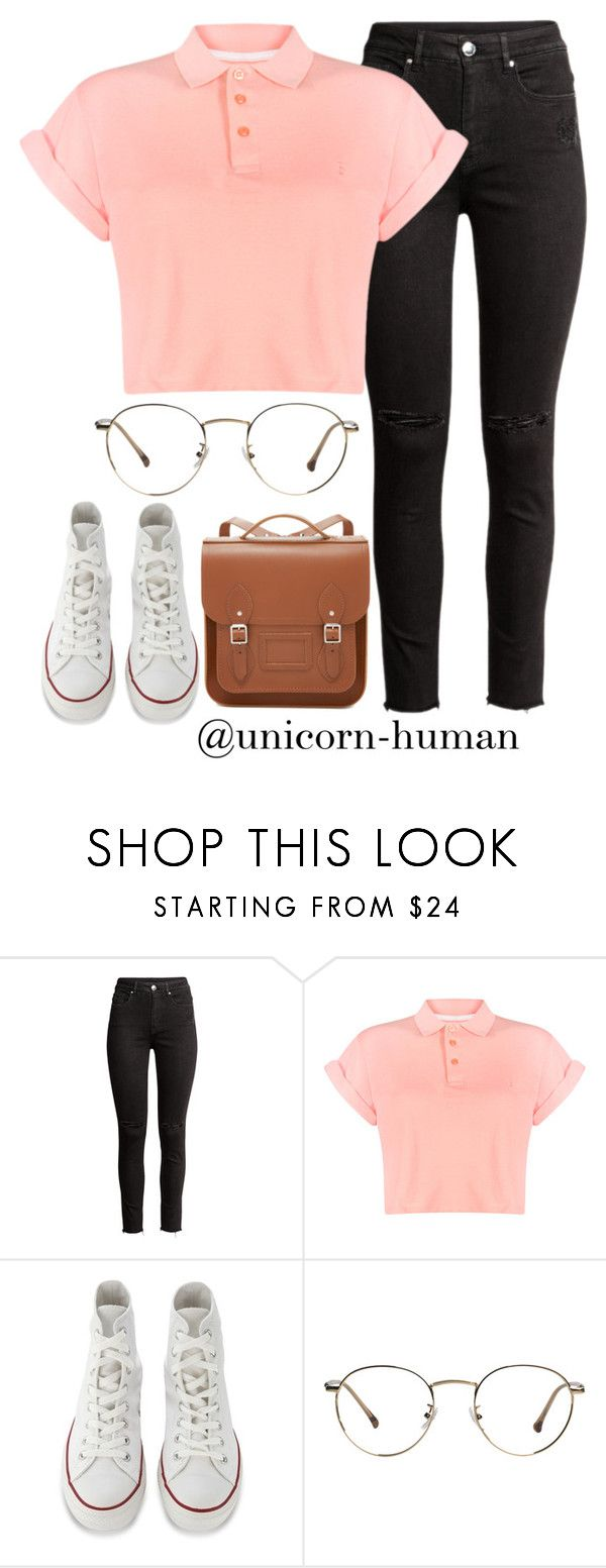 """Untitled #3090"" by unicorn-human on Polyvore featuring H&M, Bellfield, Converse and The Cambridge Satchel Company"