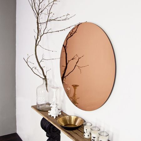 I can t tell you how excited we were when we first found these Copper and mirror is a winning combination and adds warmth and light to a room as well
