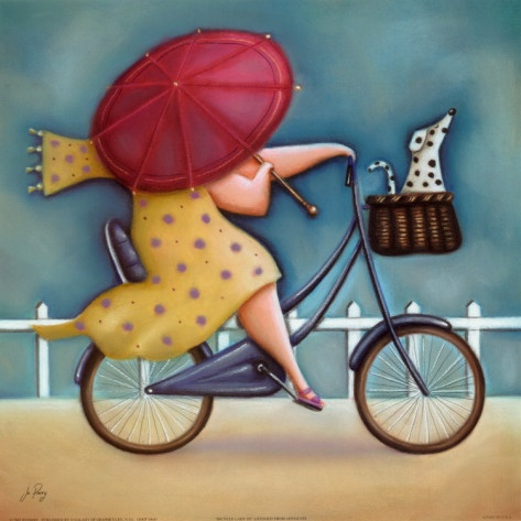 "Jo Parry ""Bicycle Lady III"""