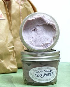 This homemade non-greasy lavender body butter recipe makes a lovely homemade Christmas gift idea and contains natural lavender essential oil and neem oil.