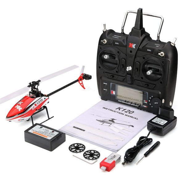 Xk shuttle k120 6ch brushless sistema 3d6g rc helicóptero orkut