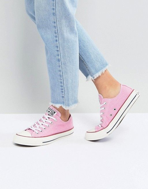 3189a9a484 Converse Chuck Taylor All Star Ox Sneakers In Stonewashed Pink $69.00