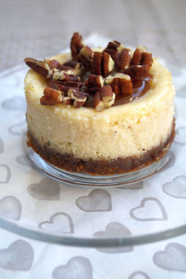 Pecan & caramel NYC cheesecake