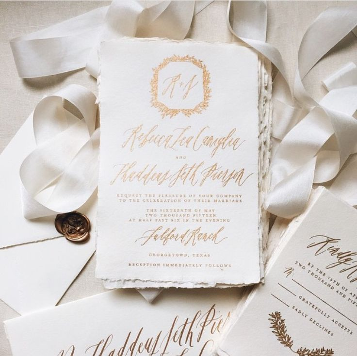 Best written word calligraphy wedding invitations