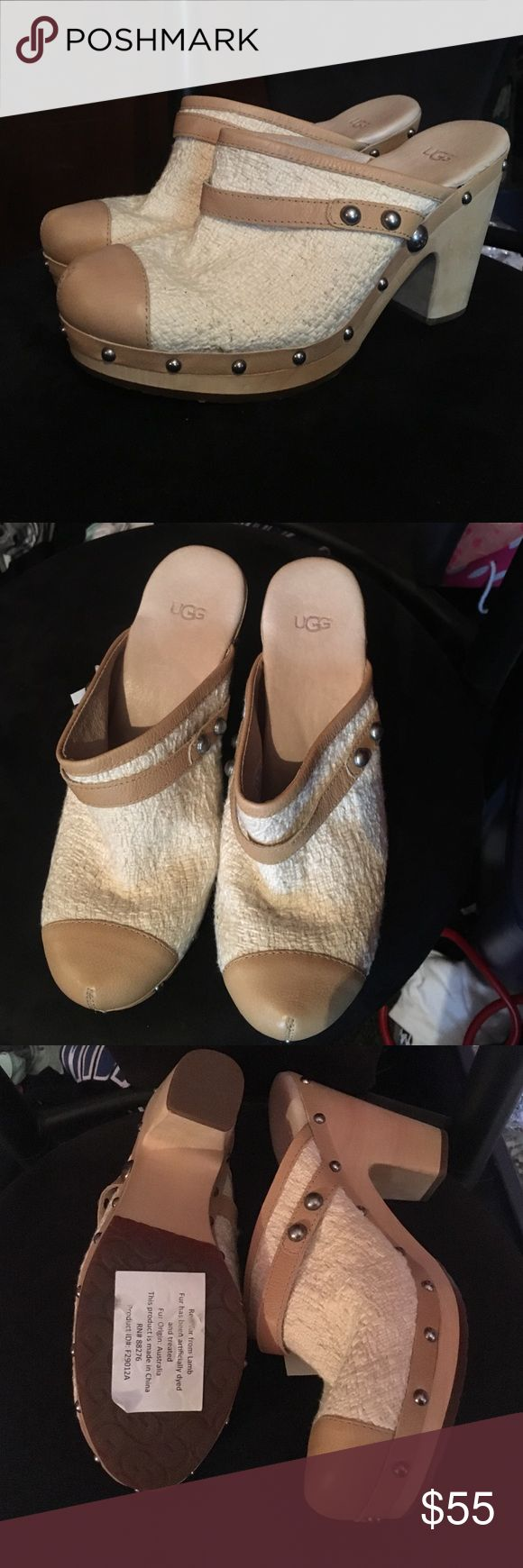 UGG Clogs Size 10 UGG Clogs. NWT from TJ Maxx. Never worn. Size 10. Tan colors with silver stud detail. UGG Shoes Mules & Clogs