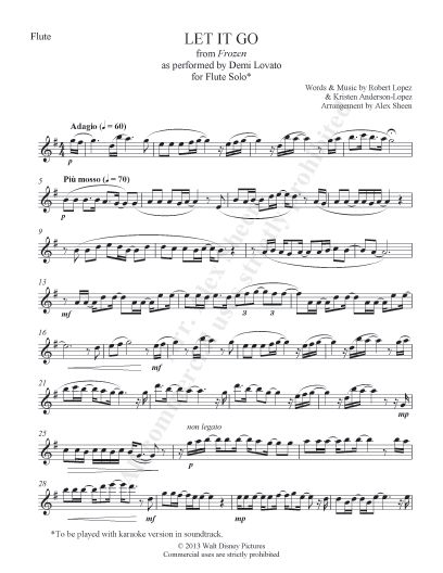 "Flute solo for Frozen's ""Let it Go"". I don't play the flute, but still....."