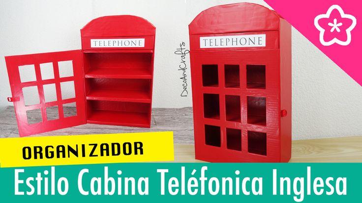 DIY Organizador de Esmaltes en forma de cabina teléfonica inglesa o londinense - DecoAndCrafts