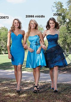 Sheath/Column Chiffon One Shoulder Natural Waist Short Bridesmaid Dresses picture 1