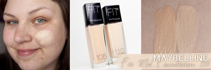 Maybelline fit me foundation 110 vs 105 magimania