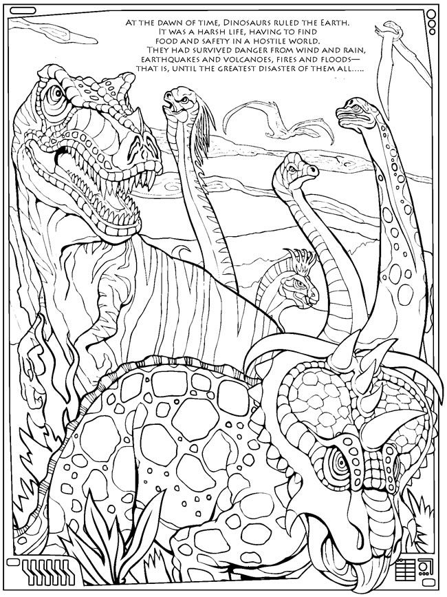 Coloring Pictures Of Dinosaurs Easy Dinosaur For Toddlers Page Pages