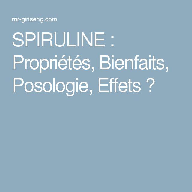 SPIRULINE : Propriétés, Bienfaits, Posologie, Effets ?