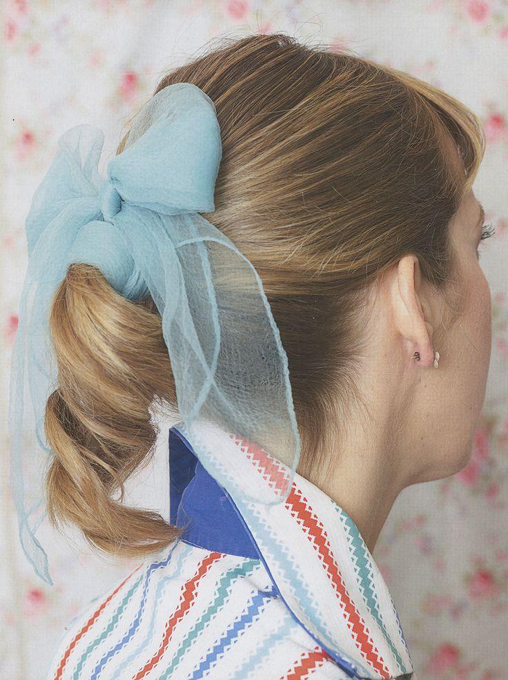 1950s Ponytail Scarf - HairstyleInsider.com