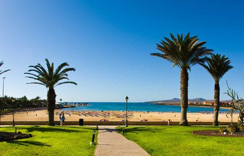 Costa Caleta beach    http://www.weather2travel.com/holidays/cheap-fuerteventura-holidays.php #Fuerteventura #Spain #travel