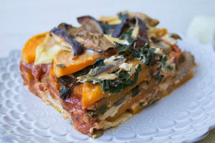 No-Noodle Butternut Squash and Swiss Chard Lasagna [Vegan, Gluten-Free]