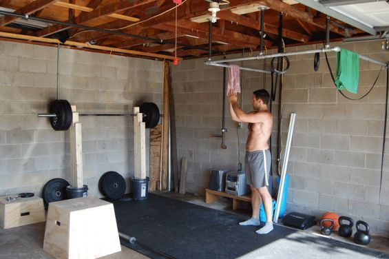 Best garage gyms images on pinterest home