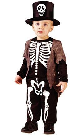 Leco Maskeraddräkt Happy Skeleton 2-3 år