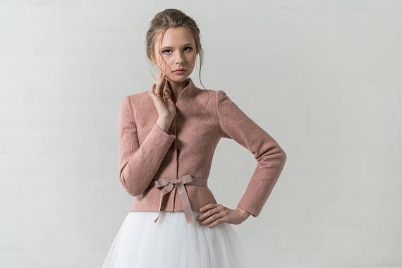Damen Bolero Mit Seide Altrosa Von Spaziodonna Bei Www Meinkleidchen De Bolero Seide Jacken