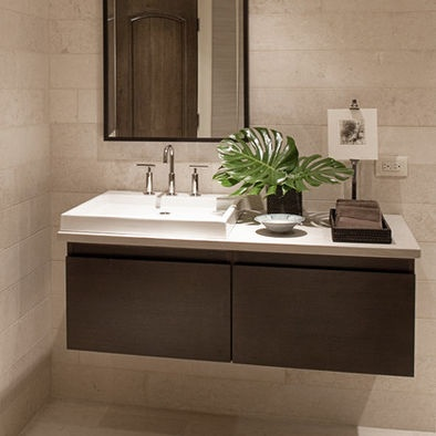 Bathroom Travertine Sink Design, Pictures, Remodel, Decor and Ideas