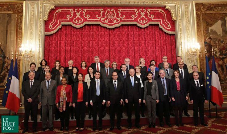 La photo de famille du gouvernement Valls 2 prise avec quatre mois de retard