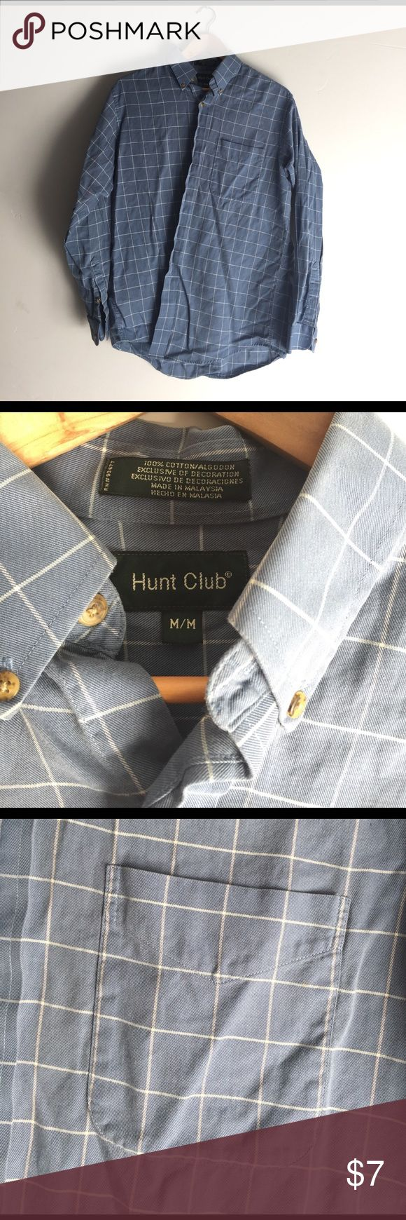 Med M's cotton plaid button-down from Hunt Club Great condition! Feel free to ask any questions. Hunt Club Shirts Casual Button Down Shirts