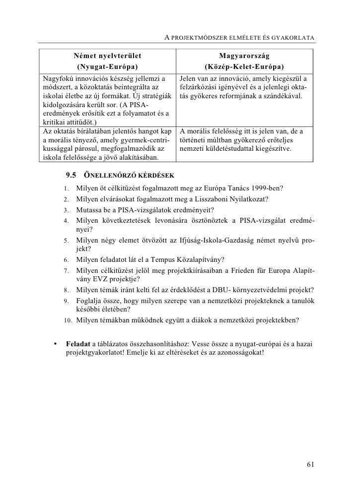 Projektmunka | Digitális Tankönyvtár