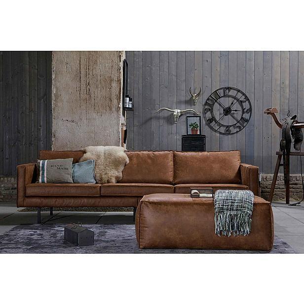 Ambia Home DREISITZER Braun Lederlook - Design um die Welt schöner zu machen