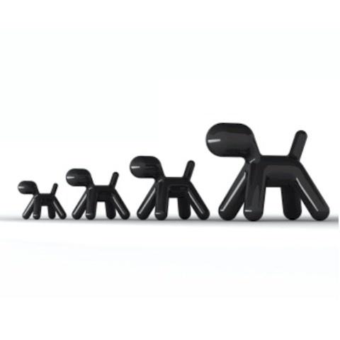 Magis Puppy Kids Chair Black High Gloss by Eero Aarnio
