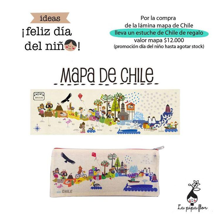 Estuche Mapa de Chile