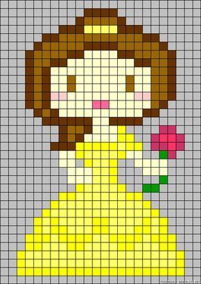 Disney Belle perler bead pattern